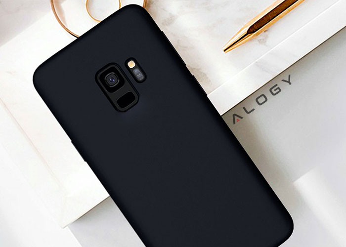 Etui Alogy silikon czarny slim case do galaxy s9