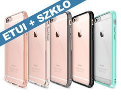 Etui Rearth Ringke Fusion Apple iPhone 6/6s + Folia Rearth gratis +Szkło Hartowane H9 /Smoke Black