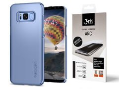 Etui Spigen Thin Fit Galaxy S8+ Plus - Blue Coral + Folia 3mk