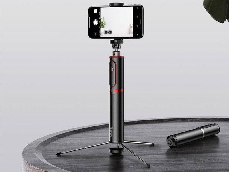 Baseus Selfie stick Fully kijek monopod statyw z pilotem Bluetooth