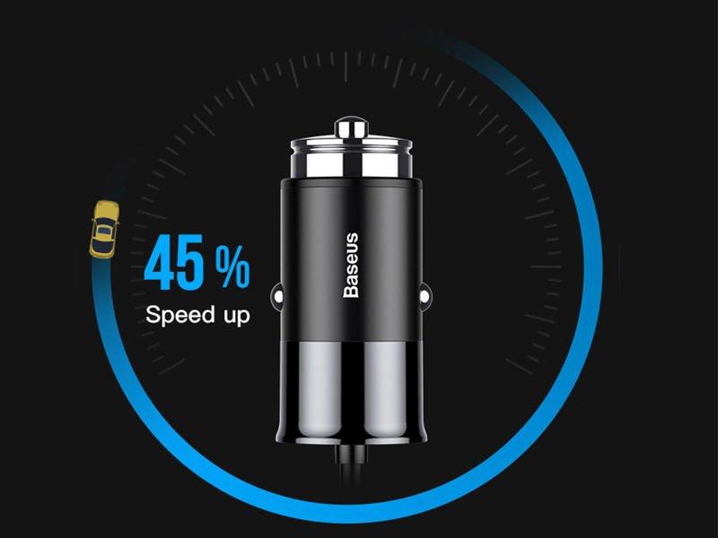 Baseus ładowarka samochodowa Quick Charge QC 4x USB 5.5A