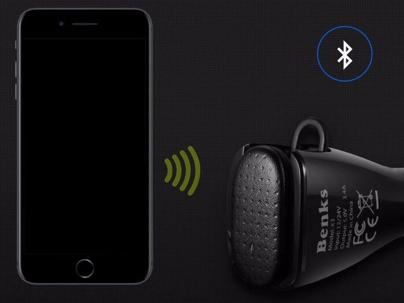 Ładowarka samochodowa ze słuchawką Bluetooth