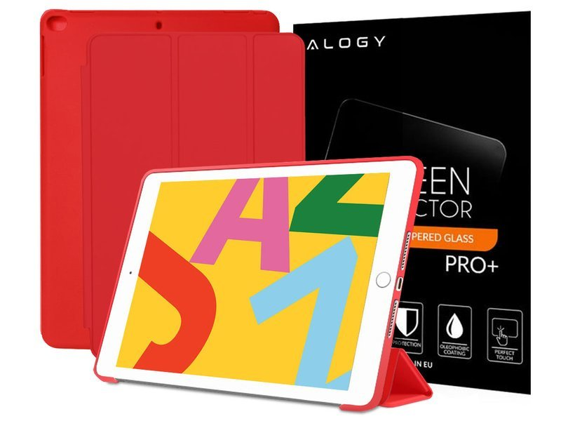 a8bbc56c89262d Etui Alogy Smart Case Apple iPad Air 2 silikon Czerwone + Szkło Kliknij,  aby powiększyć ...