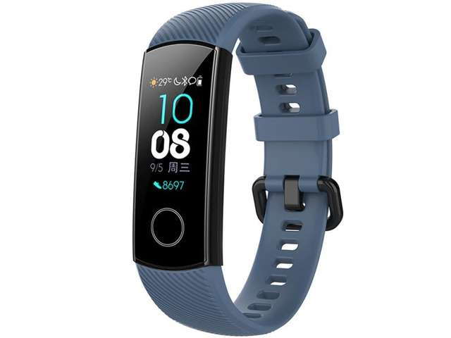 Alogy Pasek do smartwatch gumowy do Honor Band 4/5 Grafitowy