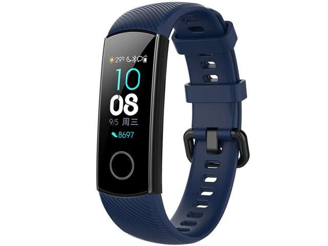 Alogy Pasek do smartwatch gumowy do Honor Band 4/5 Granatowy