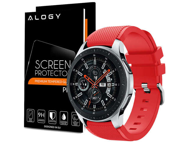 Alogy Pasek do smartwatcha do Samsung Gear S3 / watch 46mm czerwony (22mm)