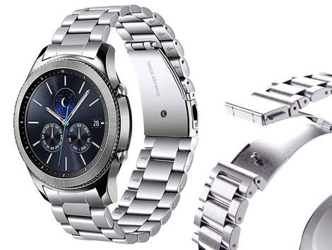 Bransoleta Stainless Steel 19cm Samsung Gear S3 / watch 46mm srebrny (22mm)