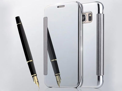 ETUI CLEAR VIEW COVER SAMSUNG GALAXY S7 CZARNE