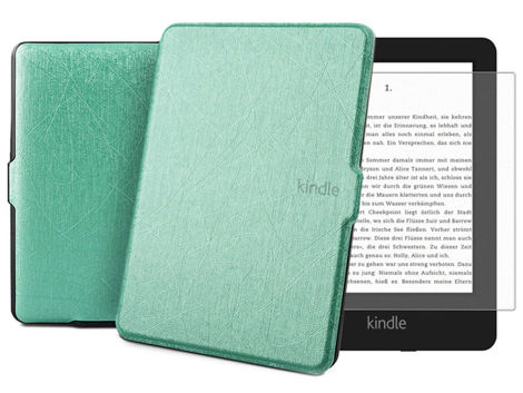 Etui Alogy Leather Smart Case Kindle Paperwhite 1/2/3 Miętowe + Szkło