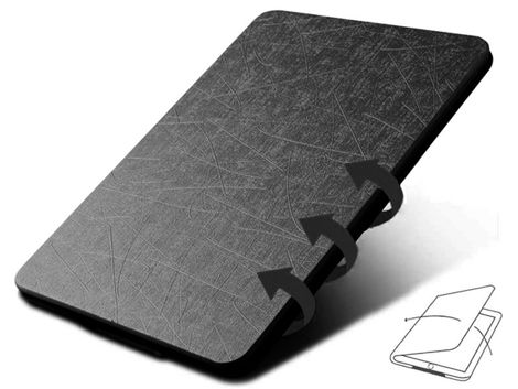 Etui Alogy Leather Smart Case do Kindle Paperwhite 4 czarne z połyskiem