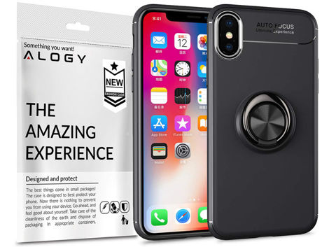 Etui Alogy Ring Holder Armor Apple iPhone X / Xs +Szkło Alogy