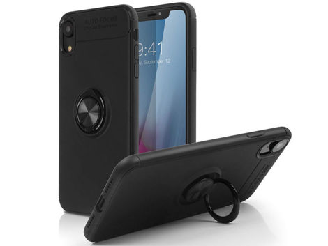 Etui Alogy Ring Holder Armor Apple iPhone Xr +Szkło Alogy