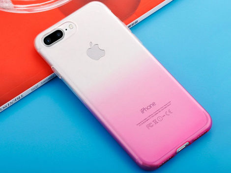 Etui Alogy Slim Ombre do Apple iPhone 7/8 Plus Różowe