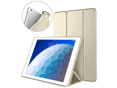 Etui Alogy Smart Case gel do Apple iPad Air 3 2019/ Pro 10.5 Złote +Szkło