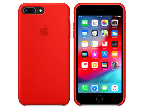 Etui Apple silicone case iPhone 7 Plus / 8 Plus MQH12ZM/A Red