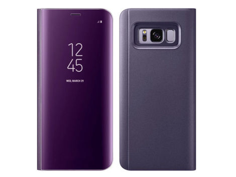 Etui Clear View cover do Samsung Galaxy Note 8 Fioletowe