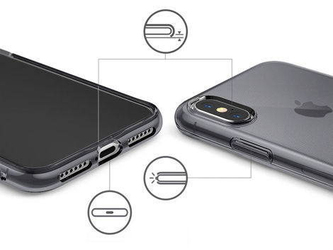 Etui Ringke Air Apple iPhone X/Xs Smoke Black + 2x Folia Ringke