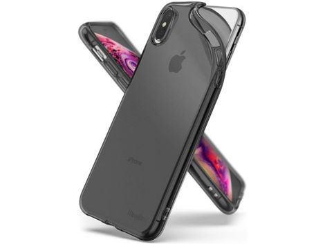 Etui Ringke Air do Apple iPhone XS Max Smoke Black + Szkło Invisible