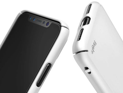 Etui Ringke Slim Apple iPhone X Xs White +Szkło Alogy