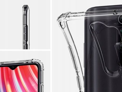 Etui Spigen Crystal Shell do Xiaomi Redmi Note 8 Pro Crystal Clear + Szkło Alogy FG