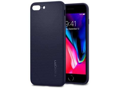 Etui Spigen Liquid Air Apple iPhone 7 / 8 Plus Midnight Blue +Szkło Alogy