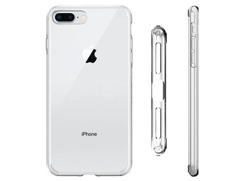 Etui Spigen Liquid Crystal 2 iPhone 7/8 Plus Crystal Clear +Szkło SGP