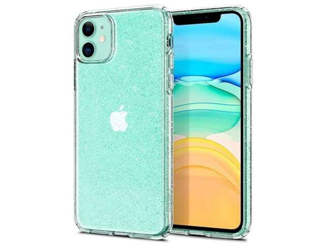 Etui Spigen Liquid Crystal Glitter do Apple iPhone 11 Crystal Quartz + Szkło Alogy