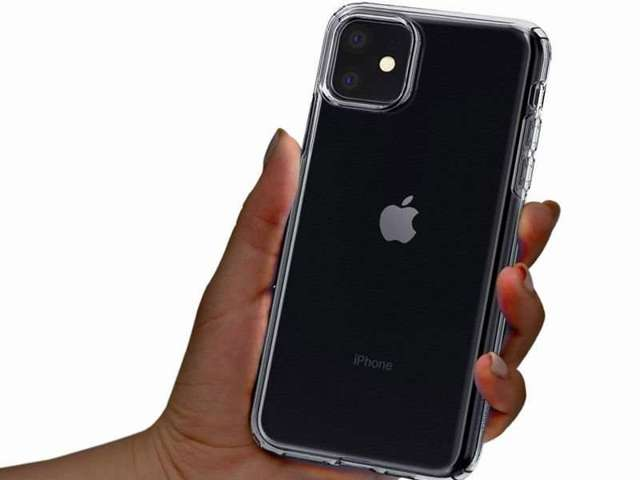 Etui Spigen Liquid Crystal do Apple iPhone 11 Crystal Clear +szkło sgp