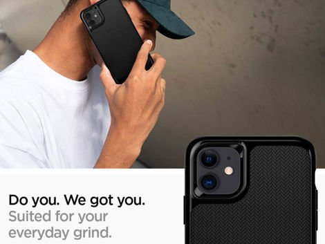 Etui Spigen Neo Hybrid do Apple iPhone 11 Jet Black + Szkło Alogy