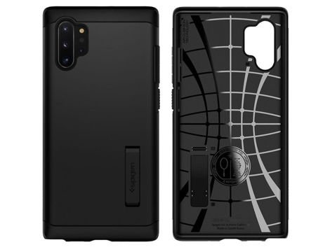 Etui Spigen Slim Armor do Galaxy Note 10 Plus Black + Folia ochronna Alogy