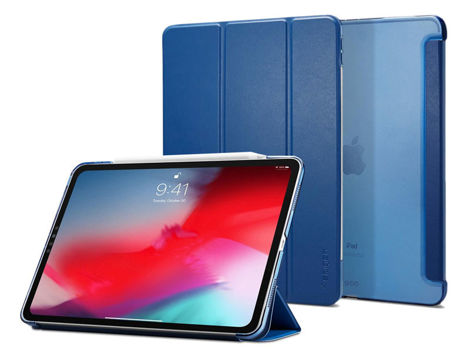 Etui Spigen Smart fold do iPad Pro 11 2018 Blue + Szkło Alogy