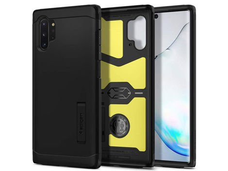 Etui Spigen Tough Armor do Galaxy Note 10 Plus Black + Folia ochronna Alogy