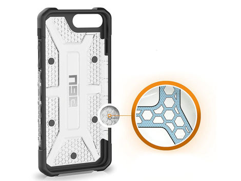 Etui UAG Urban Armor Gear Plasma Apple iPhone 6/7/8 Plus Ice + Szkło