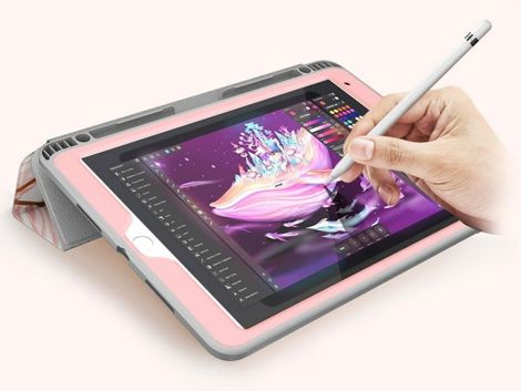 Etui na tablet Supcase Cosmo Full-body do iPad 10.2 2019 (7Gen) Marble Pink