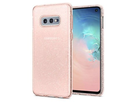 Etui na telefon Spigen Liquid Glitter Crystal do Samsung Galaxy S10e Rose