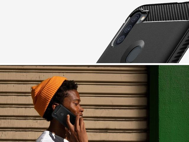 Etui na telefon Spigen Rugged Armor do Samsung Galaxy A11 Matte Black