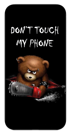 Etui na telefon z nadrukiem Don't Touch My Phone