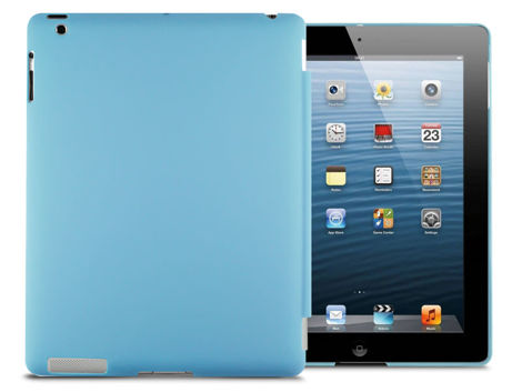 Matowe etui Back Cover do Apple iPad 2 / 3 / 4 niebieskie