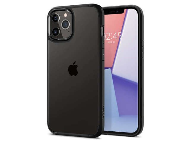 Spigen Etui na telefon Ultra Hybrid do Apple iPhone 12/ 12 Pro Matte Black
