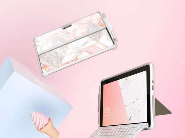 Supcase Etui na tablet Cosmo do Microsoft Surface Go Marble Pink