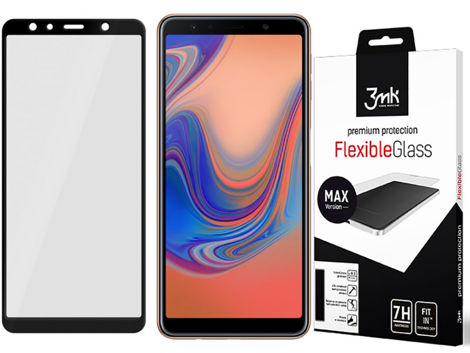 Szkło 3mk Flexible Glass MAX 7H Samsung Galaxy A7 2018 black