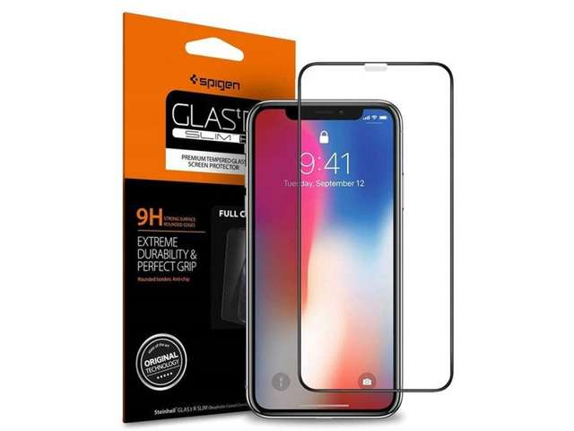 Szkło Spigen Glas.tR Slim FC do etui Apple iPhone X/ Xs/11 Pro black