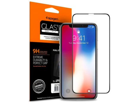 Szkło Spigen Glas.tR Slim HD do etui Apple iPhone XR/11 black