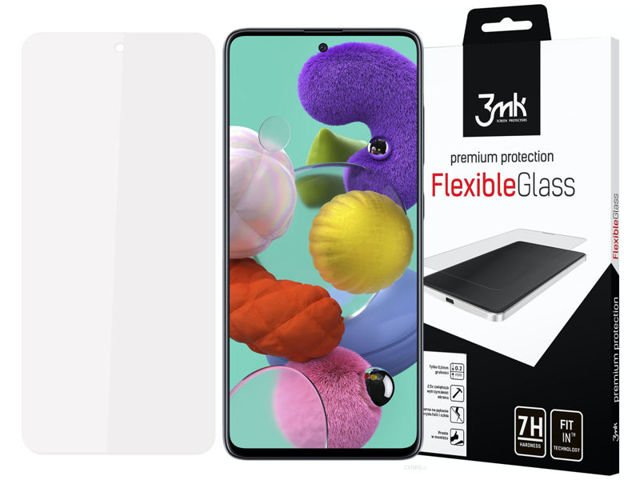 Szkło na telefon 3mk Flexible Glass 7H do Samsung Galaxy A71