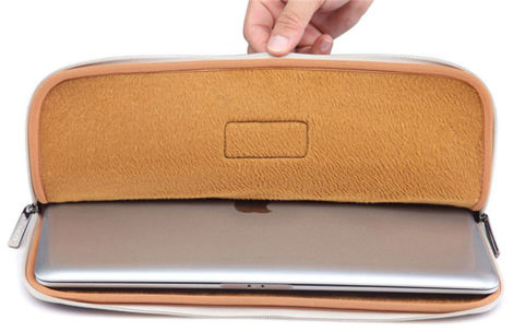 Torba Lisen etui pokrowiec do Macbook Air/ Pro 13 szary