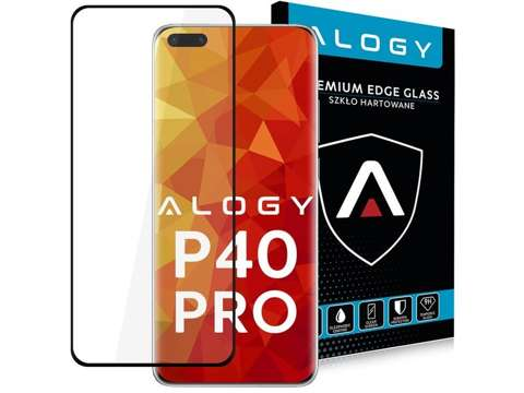 Alogy Szkło na telefon case friendly Full Glue do Huawei P40 Pro Black