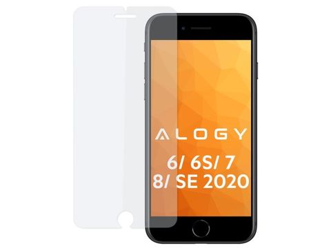 Szkło na telefon Alogy hartowane do Apple iPhone 6, 6S, 7, 8, SE 2020